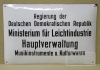 DDR Ministerium für Leichtindustrie