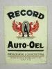 RECORD AUTO- OEL