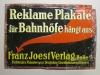 Reklame Plakate für Bahnhöfe