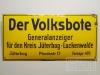Der Volksbote Jüterbog Luckenwalde